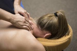 Image of lady having a neck massage